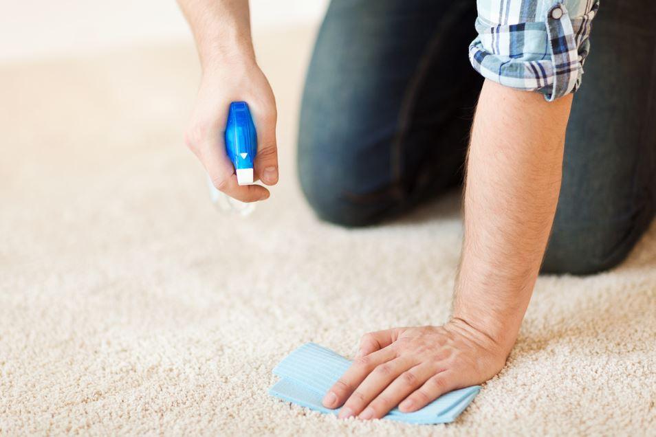 Nettoyage à la main de la moquette